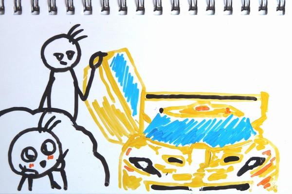 スーパーカーっぽいミニ四駆!フェスタジョーヌ(FESTA JAUNE)を買ってみたよ。写真いっぱい組み立てレビューとか。