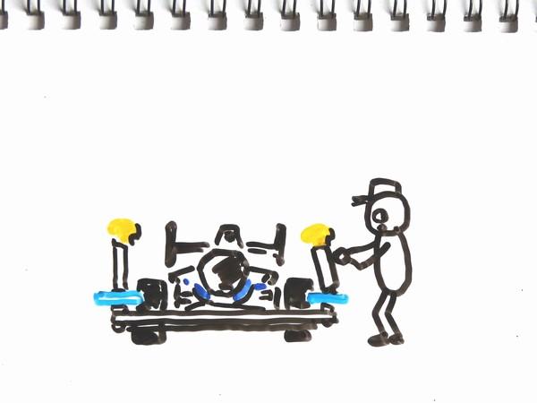 ミニ四駆の フロントローラー部分、ビス曲がり対策で組みなおし。ファーストトライパーツセットの組み方ってどうかな?