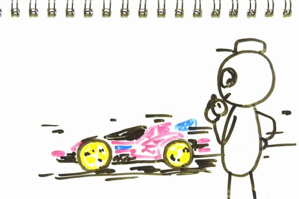 どノーマルミニ四駆、アバンテMk.ⅢJC、ジャパンカップジュニアサーキットで初タイムアタック。
