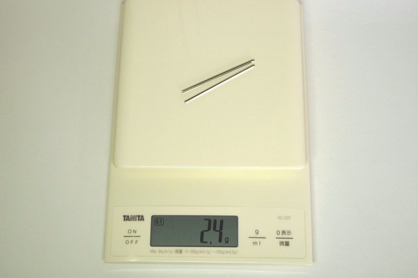 TOYz BAR☆ミニ四駆・中空ステンレスシャフトの重さって何グラム?
