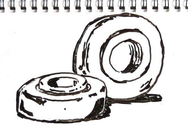 丸穴ボールベアリングを自作100均ベアリング慣らし機でブレークイン。あまり傾向つかめず。