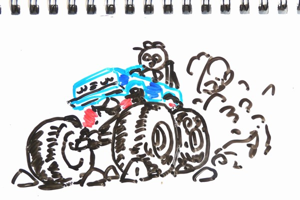 ミニ四駆のローラーセッティング考察 、ローラー径は大きいほうが有利?について考えてみる。