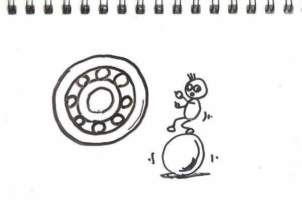 TOYz BAR☆ミニ四駆・丸穴ボールベアリングなどの軸受けをスピードチェッカーで比較