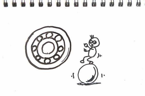 ミニ四駆のベアリング(ホイールシャフトの軸受け)の性能比較をスピードチェッカーでしてみる実験。