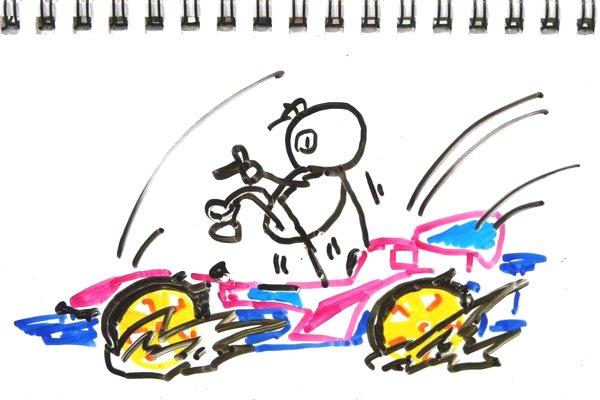 ミニ四駆のマスダンパーの動作原理って、結局はニュートンのゆりかご?考察的妄想中。
