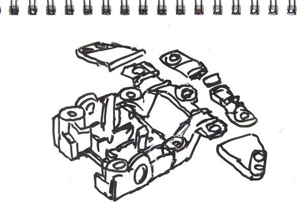 ミニ四駆のMSシャーシ・リヤユニットステーを、カッターのこで真っ直ぐ&綺麗に切る方法。