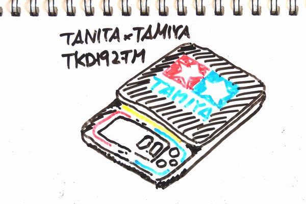 タニタ、タミヤとコラボってミニ四駆セットアップ用スケール発売!0.1g単位の高精度計量。