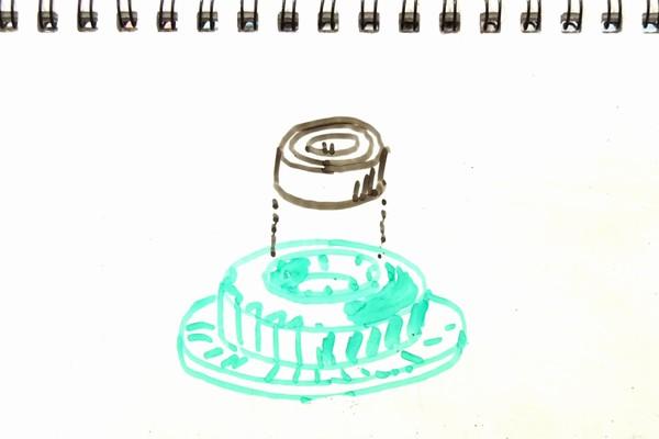 ミニ四駆のカウンターギヤからベアリングを簡単に外す方法…工具をクリップで自作してみる。