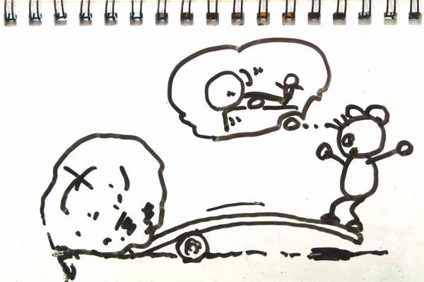 ミニ四駆MSシャーシ+ハイパワーなモーターでギヤカバーが外れる理由を妄想。なんかそれっぽい着地点かも。