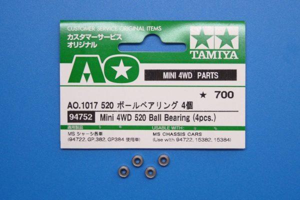 TOYz BAR☆ミニ四駆・ミニ四駆GUP AO.1017 520 ボールベアリング 4個