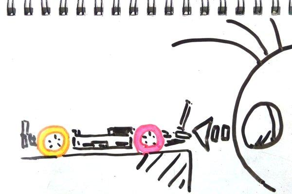 ミニ四駆にガシガシっとFRPステーを取り付けたらシャーシが歪んだ…○| ̄|_。ドライヤーで修正。