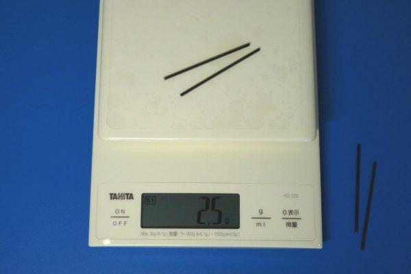 TOYz BAR☆ミニ四駆GUP 15416 60mm ブラック強化シャフト (4本)・重さ・計測