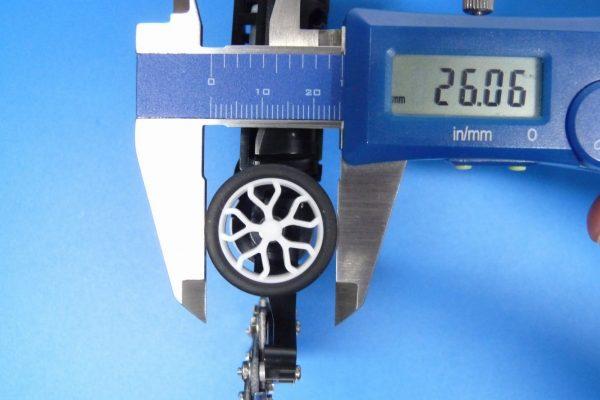 TOYz BAR☆ミニ四駆GUP 15483 ローハイトタイヤ&ホイールセット (Yスポーク)・タイヤ径
