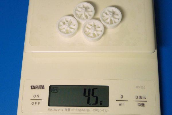 TOYz BAR☆ミニ四駆GUP 15483 ローハイトタイヤ&ホイールセット (Yスポーク)・ホイール重量