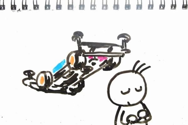 妄想ミニ四駆、ブレーキの必要性とセッティングによる効能について妄想中。