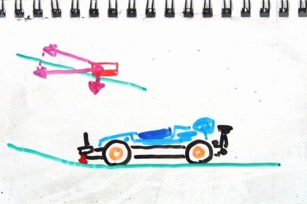 TOYz BAR☆ミニ四駆・ブレーキ効能セッティング妄想中。フロントブレーキの効能。