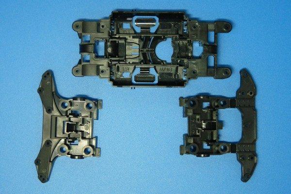 TOYz BAR☆ミニ四駆MSシャーシのリヤユニットが上下可動できるように加工。MSシャーシ3分割。