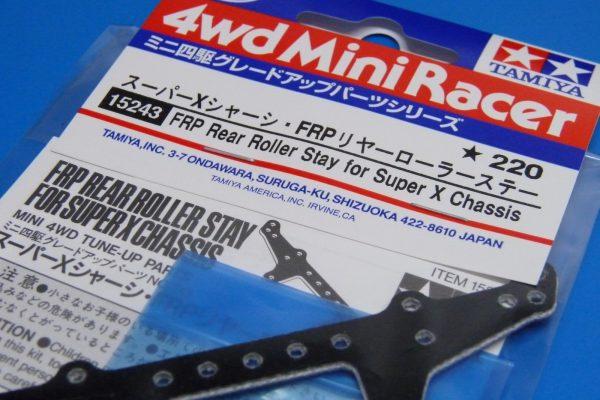 TOYz BAR☆ミニ四駆GUP 15243 スーパーXシャーシ・FRPリヤーローラーステー
