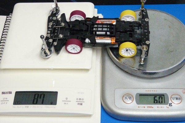 TOYz BAR☆ミニ四駆の前後重量配分を測定。