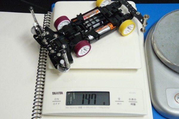 TOYz BAR☆ミニ四駆 重量測定。
