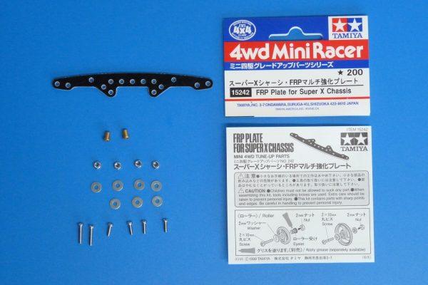 TOYz BAR☆ミニ四駆GUP 15242 スーパーXシャーシ・FRPマルチ強化プレート。同梱物。