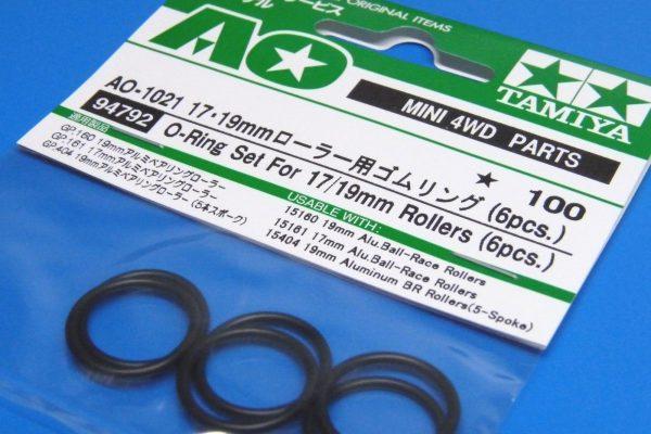 TOYz BAR☆ミニ四駆GUP 94792 AO-1021 17・19mmローラー用ゴムリング (6pcs.)