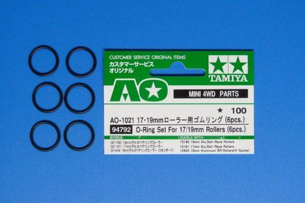 TOYz BAR☆ミニ四駆GUP 94792 AO-1021 17・19mmローラー用ゴムリング (6pcs.) 内容