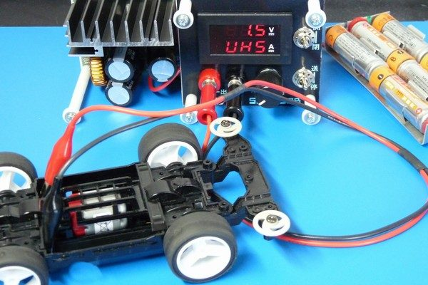 TOYz BAR☆ミニ四駆 マッハダッシュモーターPRO(カーボンブラシ)を低電圧ブレークイン。