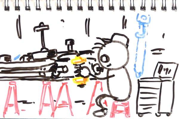 ミニ四駆のメタル軸受けにスライドダンパー用スプリングを差し込む方法。ちょっとしたコツがある模様。
