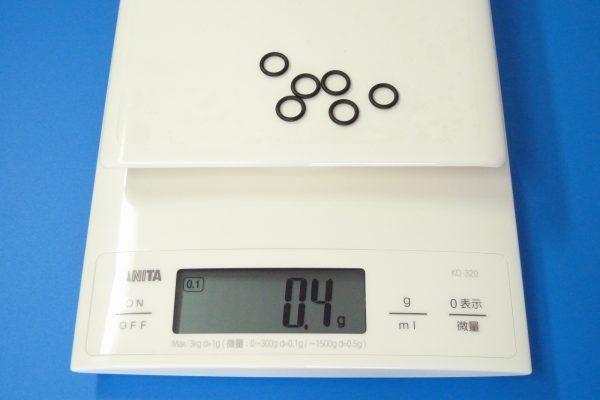 TOYz BAR☆ミニ四駆GUP 94812 AO-1026 13 - 12mmローラー用ゴムリング (6個)。重さ測定。