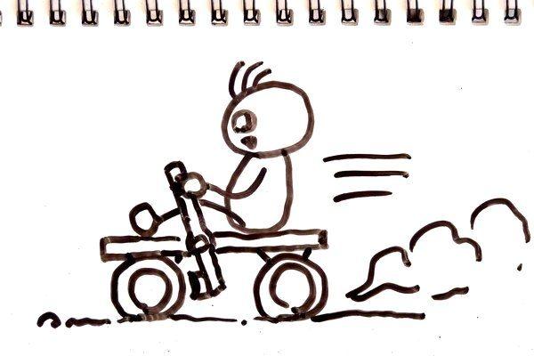 TOYz BAR☆ミニ四駆・レバー式ブレーキでタイヤを押さえるアイデア。