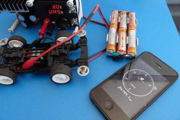 TOYz BAR☆ミニ四駆 マッハダッシュモーターPRO、低電圧ブレークイン。回転数チェック。