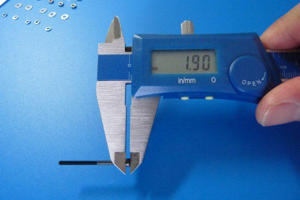 TOYz BAR☆ミニ四駆GUP 15454 2mmキャップスクリューセット(25mm・30mm)。寸法測定。