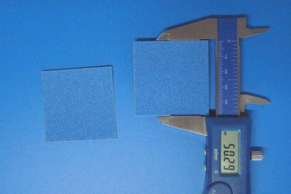 TOYz BAR☆ミニ四駆GUP 15512 ブレーキスポンジセット(マイルド 1/2/3mmブルー)。1mmブレーキスポンジシート。サイズ、厚み測定。