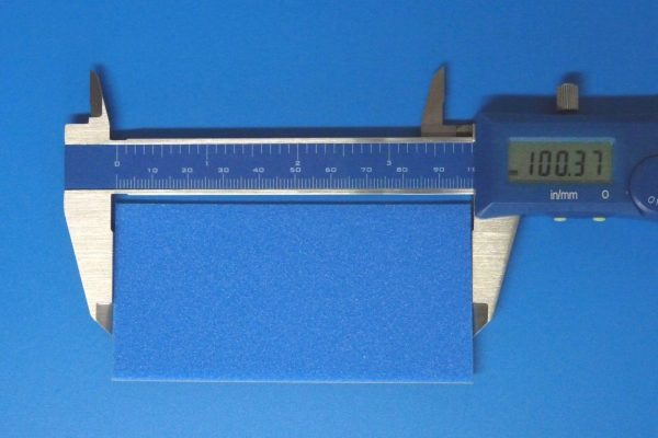TOYz BAR☆ミニ四駆GUP 15512 ブレーキスポンジセット(マイルド 1/2/3mmブルー)。2mmブレーキスポンジシート。サイズ、厚み測定。