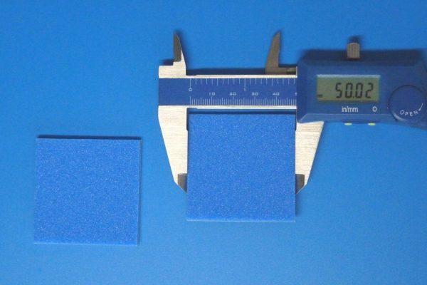 TOYz BAR☆ミニ四駆GUP 15512 ブレーキスポンジセット(マイルド 1/2/3mmブルー)。3mmブレーキスポンジシート。サイズ、厚み測定。
