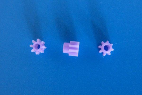 TOYz BAR☆ミニ四駆GUP 94577 AO-1014 8Tピニオンギヤ(プラスチック・10個)。ピニオンギヤ拡大写真。