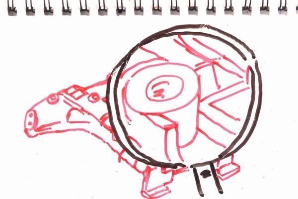 ミニ四駆用GUP N-04・T-04 強化ユニットを堪能。小加工で車高を2mmダウンできそうとか。
