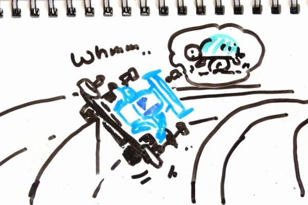 ミニ四駆(MSシャーシ)のリヤ用アンダーガードを考えてみる。パーフェクト感はなかなか難しいなぁ。