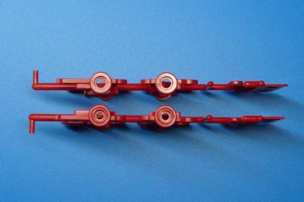 TOYz BAR☆ミニ四駆GUP 15411 N-04・T-04強化ユニット(レッド)。J1とJ2比較。