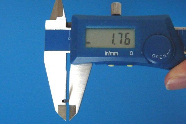 TOYz BAR☆ミニ四駆GUP 15440 60mm中空ステンレスシャフト。外径(対角)測定。