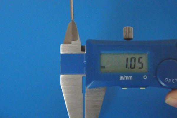 TOYz BAR☆ミニ四駆GUP 15440 60mm中空ステンレスシャフト。内径測定。
