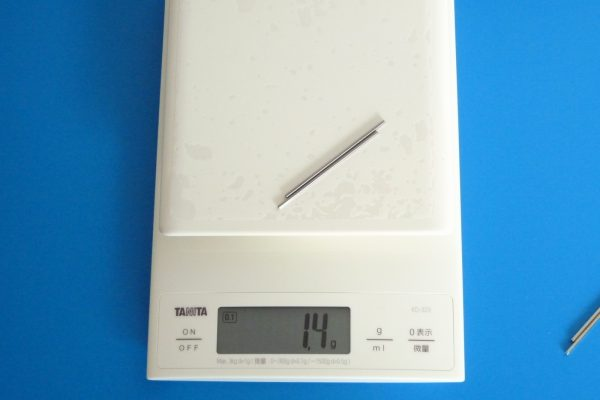 TOYz BAR☆ミニ四駆GUP 15440 60mm中空ステンレスシャフト。重量測定。