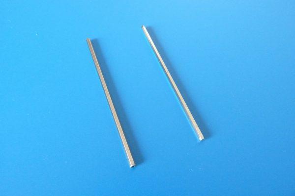 TOYz BAR☆ミニ四駆GUP 15440 60mm中空ステンレスシャフト。外径(対角)測定。ノーマルとステンレス比較。