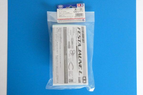 TOYz BAR☆ミニ四駆GUP 95101 ミニ四駆35周年記念 フェスタジョーヌ L クリヤーボディセット。パッケージ裏側写真。