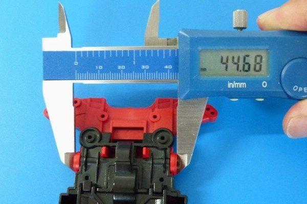TOYz BAR☆ミニ四駆 15411 N-04・T-04強化ユニットと520ハトメ軸受け。幅測定。