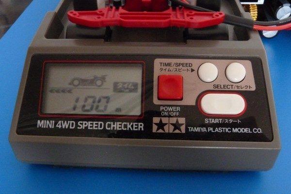 TOYz BAR☆ミニ四駆 520ボールベアリング、スピードチェッカーで計測。