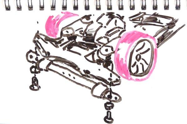 ミニ四駆のブレーキ、フロント下に高さ調整可能なブレーキをジョーダンブレーキ風に取り付けてみる。
