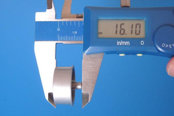 TOYz BAR☆ミニ四駆GUP 15491 大径Vスポーク ナローホイール(バレルタイヤ付)。ホイールサイズ測定。