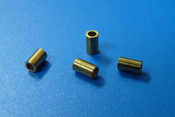 TOYz BAR☆ミニ四駆GUP 94801 AO-1023 2段アルミローラー用5mmパイプ (4個)。拡大写真。